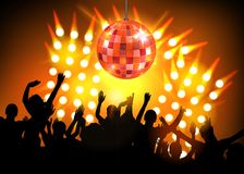 Club party with dancing people. Illustration of Club party with dancing people Stock Image