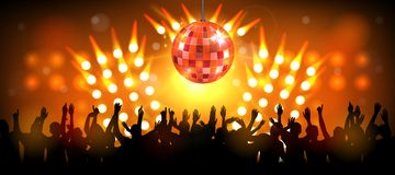 Club party with dancing people Royalty Free Stock Image