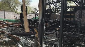 Club quemado después del fuego metrajes