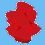 Club rouge de coeurs Image libre de droits
