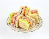 Club Sandwich Angle Stock Image