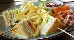 Club sandwich for breakfast Stock Photography