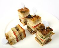 Club sandwich canape Royalty Free Stock Photos