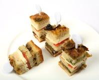 Club sandwich canape Royalty Free Stock Photos