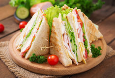 Club sandwich Stock Photos