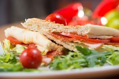 Club sandwich, close up shot royalty free stock image