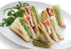Club sandwich , clubhouse Sandwich. American clubhouse sandwich Royalty Free Stock Photo