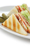 Club sandwich , clubhouse Sandwich Royalty Free Stock Photos