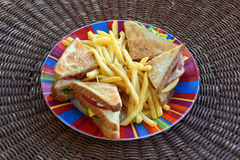Club sandwich fast food Royalty Free Stock Images