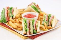 Club sandwich fingerfood Royalty Free Stock Photos