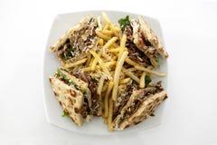 CLub sandwich with gyros Stock Photos