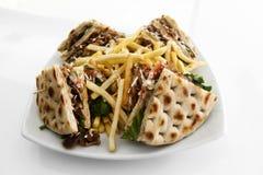 CLub sandwich with gyros Royalty Free Stock Photo
