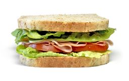 Club sandwich with ham and cheese Stock Photo