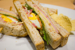 Club sandwich Stock Photos