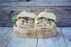 Club sandwich with Instagram Style Filter. Royalty Free Stock Images