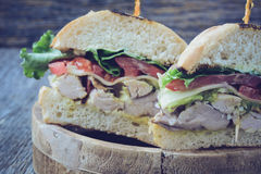 Club sandwich with Instagram Style Filter. Stock Image