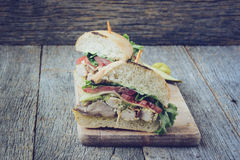 Club sandwich with Instagram Style Filter. Stock Photo