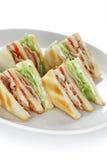 Club Sandwich, Klubhaus Sandwich Stockbild