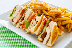 Club sandwich meal Stock Images