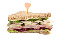 Club Sandwich with Meat Stock Images