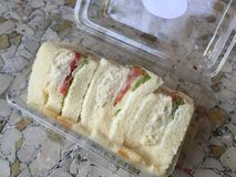 Club sandwich. Mini club sandwich royalty free stock images