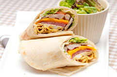 Club sandwich pita bread roll Stock Photography