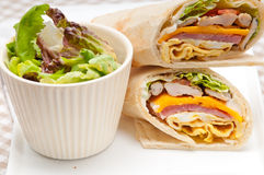 Club sandwich pita bread roll Stock Image