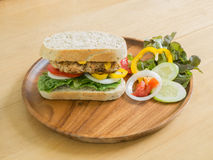 Club Sandwich with pork and vegetable Stock Image
