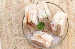 Club sandwich was the delicious Stock Photography