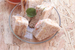 Club sandwich was the delicious Royalty Free Stock Photos