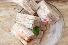 Club sandwich was the delicious Royalty Free Stock Images