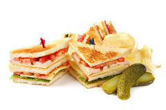 Club Sandwiche Stockfoto