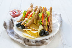 Club Sandwiche Stockfoto