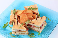 Club sandwiches Stock Photos