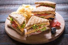 Club Sandwiches Stock Photos