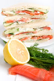 Club sandwiches with ingredients Royalty Free Stock Images
