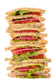 Club sandwiches isolated Stock Image