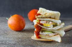 Club sandwiches and vegetable Royalty Free Stock Photo