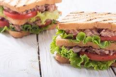 Club sandwith met tonijn stock afbeelding