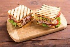 Club sandwith met tonijn royalty-vrije stock afbeelding