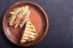 Club sandwith met tonijn royalty-vrije stock fotografie