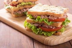 Club sandwith met tonijn stock foto's