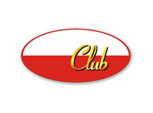 Club sign frame - also vector file Royalty Free Stock Photography