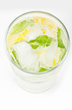 Club soda with lemon and mint Stock Photography