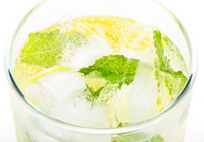Club soda with lemon and mint Royalty Free Stock Photography