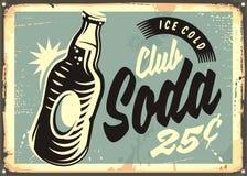 Free Club Soda Promotional Retro Tin Sign Royalty Free Stock Photography - 94797067