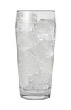 Club Soda Water Isolated with clipping path. On a white background Royalty Free Stock Images