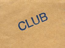 Club stamp over paper Royalty Free Stock Photos