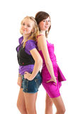 Club style girls Royalty Free Stock Images