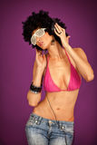 Club style woman royalty free stock images